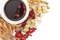 Ervas e medicina tradicionais chinesas imagens de stock
