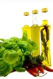 Ervas e petróleo Fotografia de Stock
