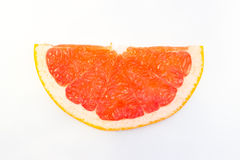 Erved fresh grapefruit composition isolated over the white background, top view. Erved  grapefruit composition isolated over the white background, top view Royalty Free Stock Photos