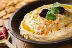 Ervilha de pintainho Hummus Imagens de Stock Royalty Free