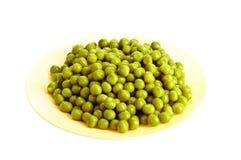 Ervilha verde enlatada Foto de Stock Royalty Free