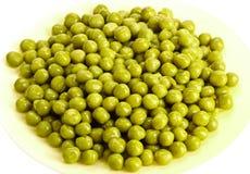 Ervilha verde enlatada fotografia de stock