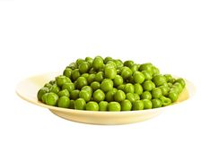 Ervilha verde enlatada Foto de Stock