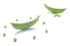 Ervilha verde japonesa no branco 2 Fotografia de Stock