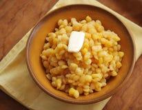 Ervilhas cozinhadas com manteiga Fotografia de Stock Royalty Free
