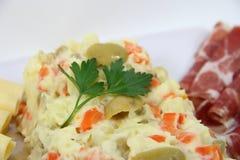Ervilhas das batatas da maionese Imagens de Stock Royalty Free
