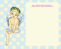 Ervilhas de assento do fundo do cartão do anjo Imagem de Stock Royalty Free