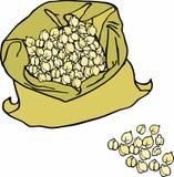 Ervilhas de pintainho em um saco Foto de Stock
