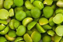 Ervilhas rachadas do verde de acima Fotos de Stock Royalty Free