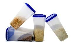 Ervilhas, trigo mourisco, arroz, painço Foto de Stock Royalty Free