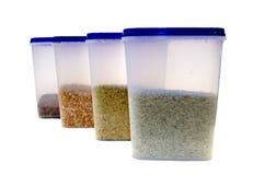Ervilhas, trigo mourisco, arroz, painço Imagem de Stock