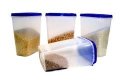 Ervilhas, trigo mourisco, arroz, painço Imagens de Stock Royalty Free