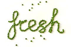 Ervilhas verdes Imagem de Stock Royalty Free