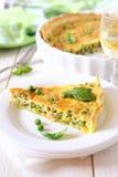 Ervilhas verdes e torta das banhas Imagem de Stock Royalty Free