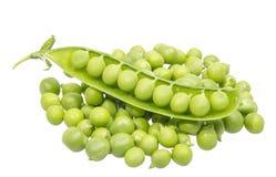 Ervilhas verdes frescas Fotografia de Stock
