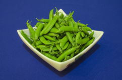 Ervilhas verdes frescas Imagem de Stock