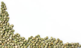 Ervilhas verdes secas Fotografia de Stock Royalty Free