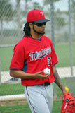 Ervin Santana Newest Pitcher för Minnesota Twins Arkivbild