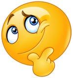 Erwägen Sie Emoticon Lizenzfreie Stockbilder