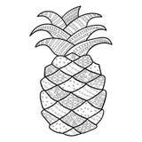 Erwachsene Farbtonseite der Ananas Lizenzfreie Stockbilder