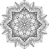 Erwachsene Farbtonseite, Mandala Lizenzfreies Stockbild