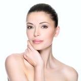 Erwachsene Frau mit schönem Gesicht Lizenzfreies Stockfoto