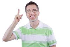 Erwachsene Mann-Werbung Lizenzfreies Stockfoto