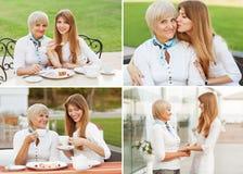 Erwachsene Mutter und Tochter Stockbilder