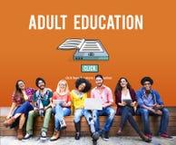 Erwachsenenbildungs-blockierte Beratungsaltersgrenze Konzept Lizenzfreies Stockbild