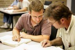 Erwachsener Ed - Studien-Partner lizenzfreie stockfotos