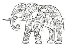 Erwachsener Farbton - Elefant Lizenzfreie Stockfotos