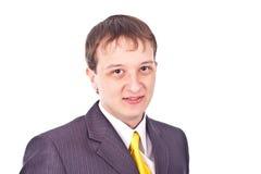 Erwachsener Geschäftsmann auf getrenntem Hintergrund Stockfoto