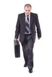 Erwachsener Geschäftsmann auf seine Art zum Arbeitsplatz Lizenzfreie Stockfotografie