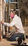 Erwachsener Graffiti-Künstler Lizenzfreie Stockfotografie