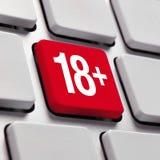 Erwachsener Inhalt, Konzept 18+ Lizenzfreies Stockbild