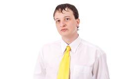 Erwachsener Kerl auf getrenntem Hintergrund Lizenzfreie Stockbilder