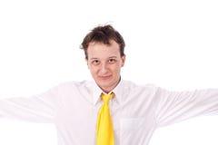 Erwachsener Kerl auf getrenntem Hintergrund Stockfotografie