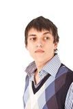 Erwachsener Kerl auf Isolat backout Stockfoto