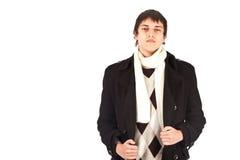 Erwachsener Mann auf Isolathintergrund Stockfotos