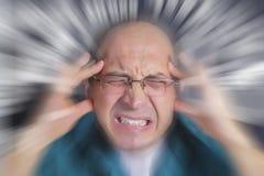 Erwachsener Mann unter schwerem Druck lizenzfreie stockbilder