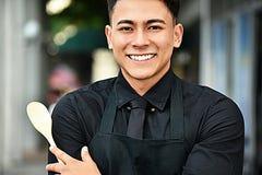 Erwachsener Manneschef Or Cook stockfoto