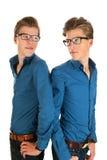 Erwachsener Manneszwillinge stockbild
