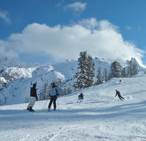 Erwachsener Skifahrer stockfotos