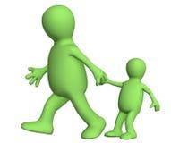 Erwachsener, ziehend für eine Hand des kleinen Kindes Lizenzfreies Stockfoto