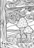 Erwachsenes Antidruckfarbton-Seitengekritzel Stockbilder
