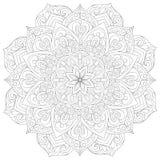 Erwachsenes Malbuch, paginieren eine Zenmandala für entspannende Tätigkeit Zenkunst-Artillustration Vektor Abbildung