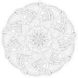 Erwachsenes Malbuch, paginieren eine Zenmandala für entspannende Tätigkeit Zenkunst-Artillustration Stock Abbildung