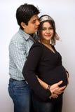 Erwartende Muttergesellschaft?. Stockfoto