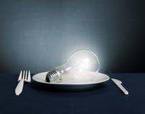 Erweiternde elektrische Lampe stockbild