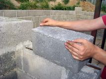 Erweiterter Lehmblock 2 Stockbild